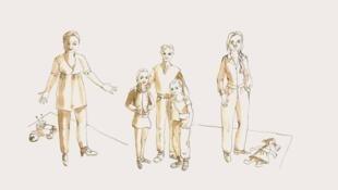 Maquette des costumes de l'opéra «Maudits les innocents».