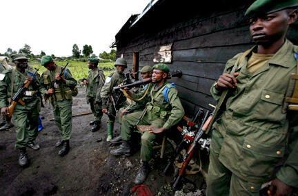 DRC armed forces arrested two suspects in Wednesday's killings.