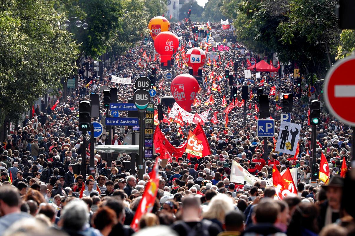 The demonstration in Paris on 12 September 2017