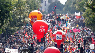 Manifestation contre les ordonnances de réforme du code du travail, à Paris, le 12 septembre 2017.