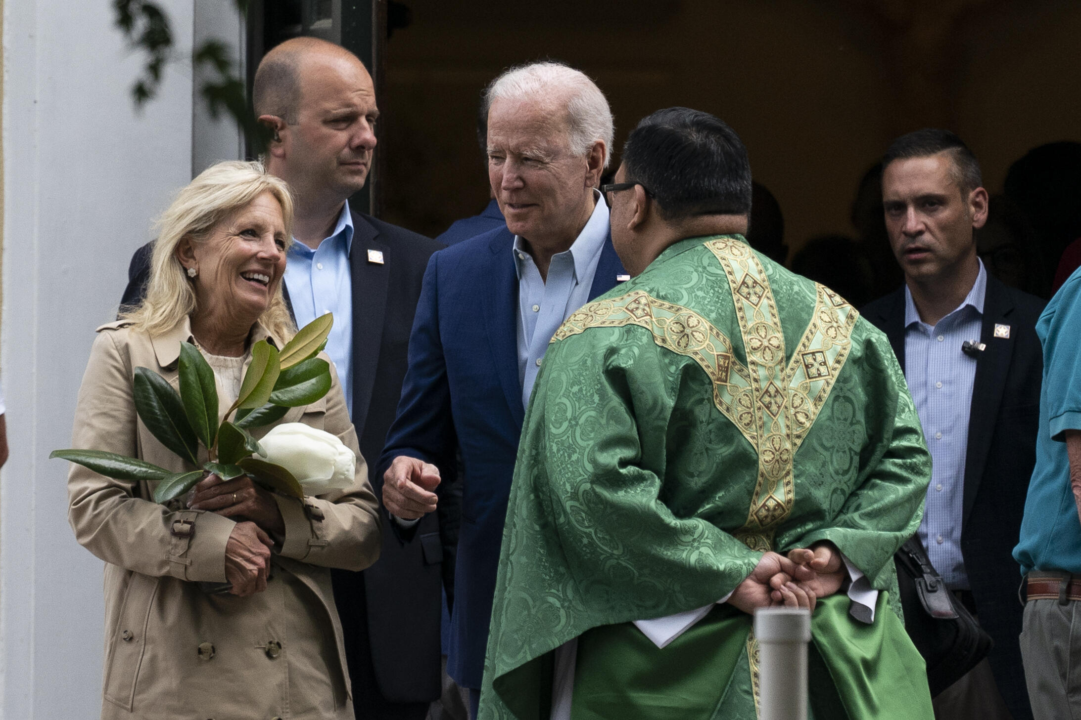 Le président américain Joe Biden s'est rendu à l'église Saint-Joseph on the Brandywine, le 19 juin 2021 à Wilmington (Delaware).