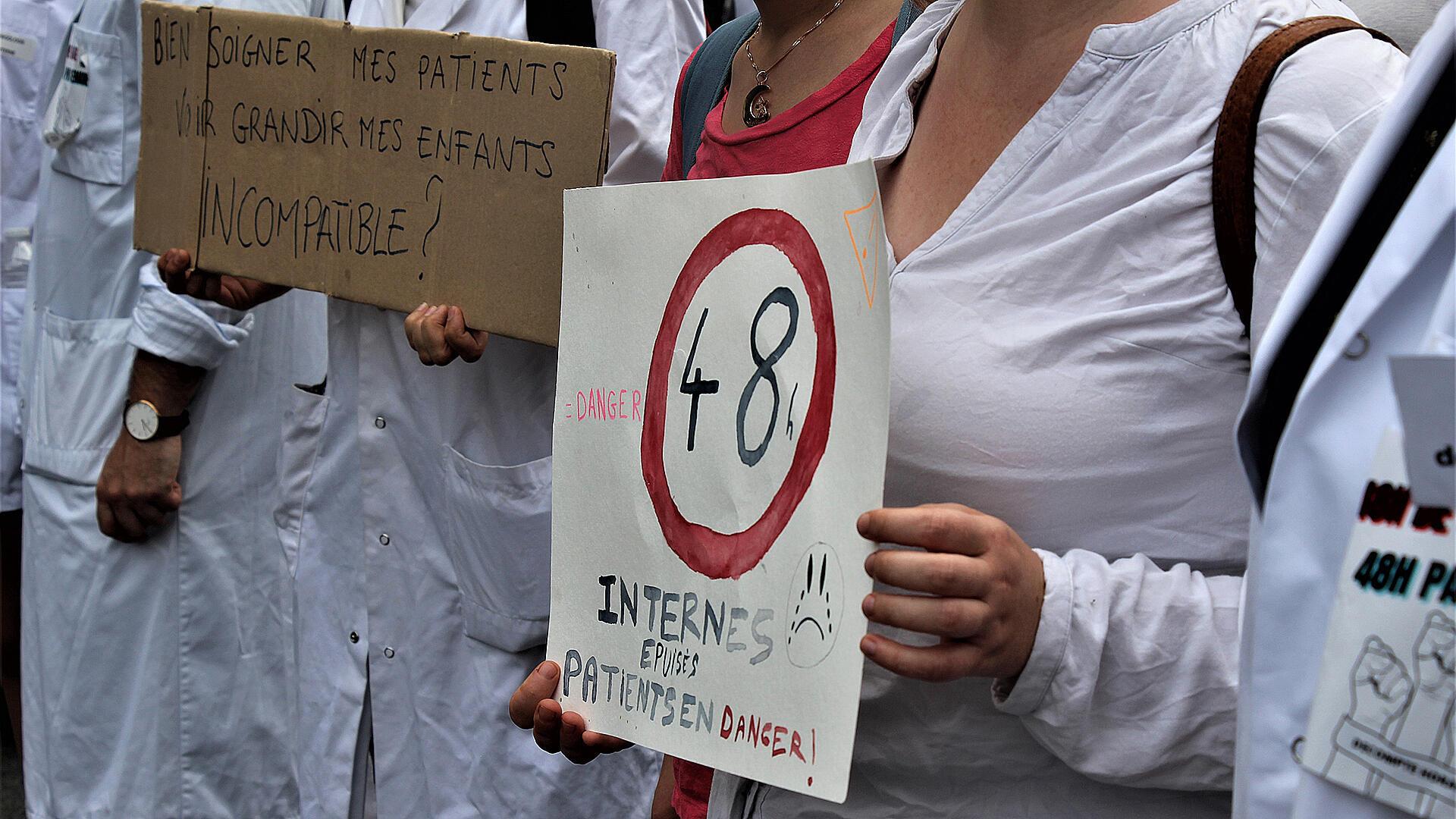 France - Covid - grand épuisement des internes en médecine - soignants _ Grand reportage Claire Leys_IMG_2557