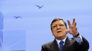 Жозе Мануэл Баррозу на конференции в Брюсселе 22/01/2014