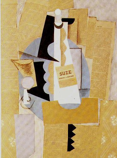 Натюрморт-коллаж П. Пикассо 1912 г.