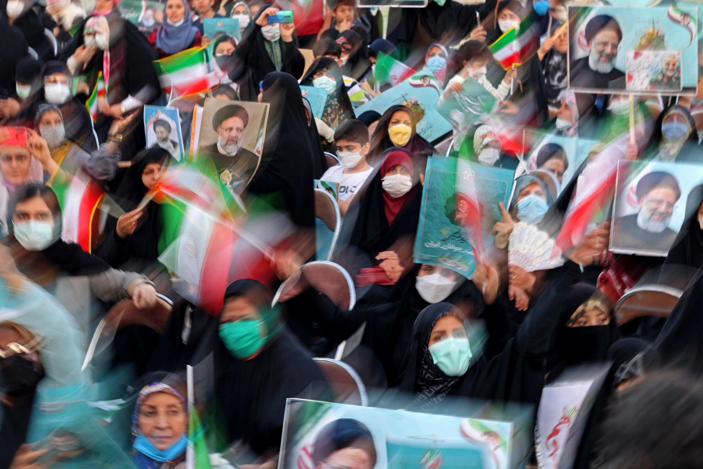 Supporters d'Ebrahim Raisi, candidat à la Présidence