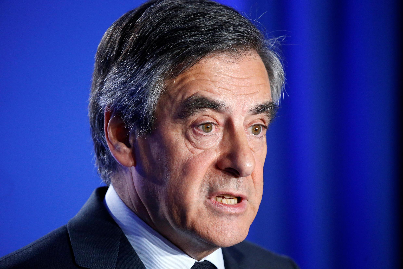 François Fillon's press conference in Paris, 1 March 2017.
