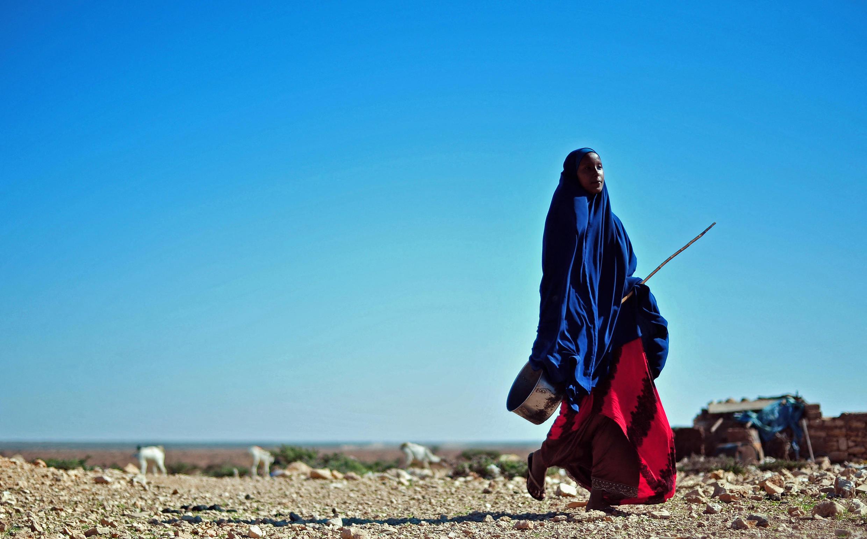 Une femme dans la zone de Dhahar, au Puntland, le 15 décembre 2016.