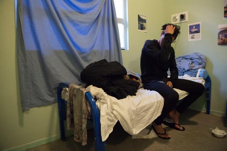 Мигрант в одном из французских центров временного содержания CRA