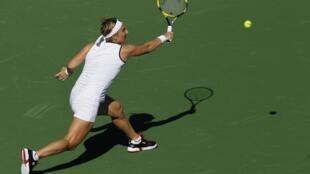 A russa Svetlana Kuznetsova, em partida no torneio de tênis de Indian Wells.