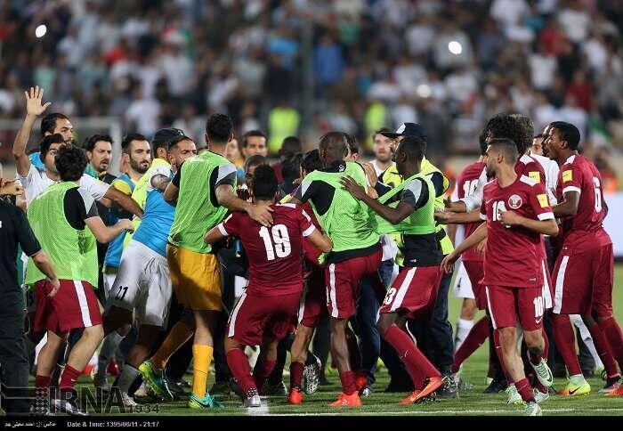 حاشیه دیدار تیم های ملی فوتبال ایران و قطر