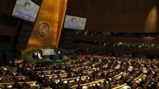 Dilma discursa no plenário da ONU em setembro do ano passado.