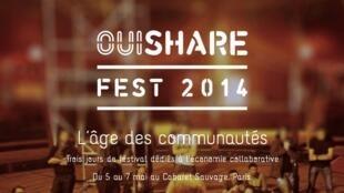 Page d'accueil du site du Oui Share Fest.