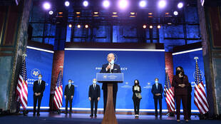 US President-elect Joe Biden unveils his foreign policy team in Wilmington, Delaware