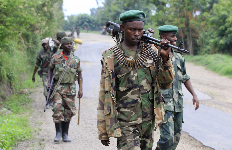 Des combattants du M23, en 2013, près de Rushuru, dans l'est de la RDC (photo d'illustration).