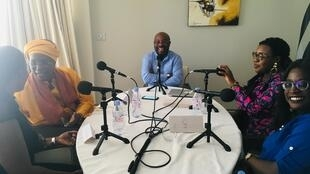 Amsatou Sow Sidibe ,Jaly Badiane, Lalla Ancilla Diagne, Aïda Sopi Niang et Alain Foka à Dakar, mars 2019.