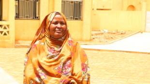 Anizatou Anaby, mère de famille et présidente de la Coordination des associations féminines et ONG (Cafo) de Ménaka en juin 2019.
