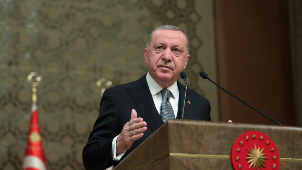Tổng thống Thổ Nhĩ Kỳ Tayyip Erdogan tại một hội nghị chuyên đề ở Ankara ngày 02/01/2020.
