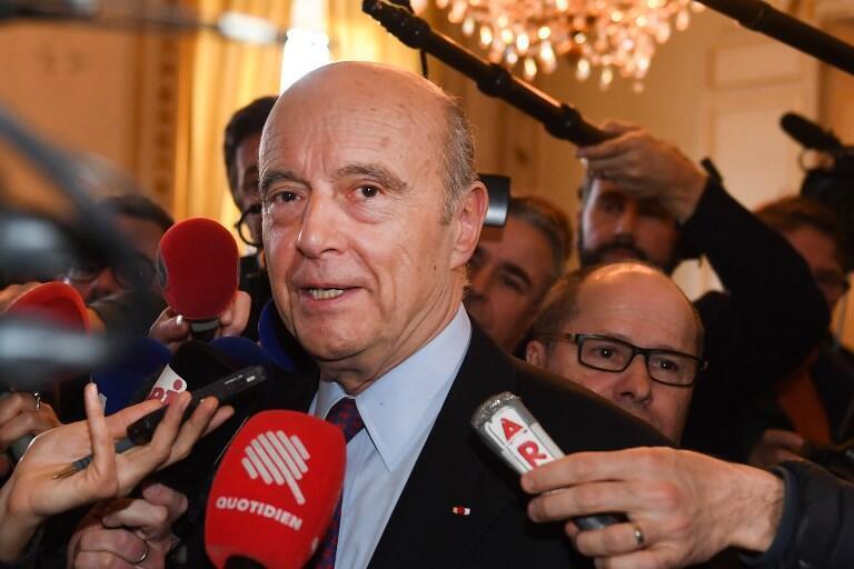 Alain Juppé en marge d'une conférence de presse organisée ce jeudi 14 février 2019 à Bordeaux.
