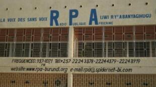 Le siège de la radio burundaise RPA dirigée par le journaliste emprisonné Bob Rugurika.