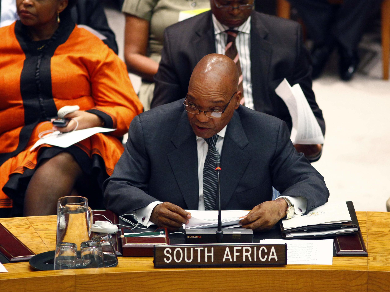 Zacob Zuma Shugaban kasar Africa ta kudu a Taron kwamitin sulhu na Majalisar Dunkin Duniya
