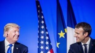 Lors de la visite de Trump à l'Elysée, le 13 juillet 2017.