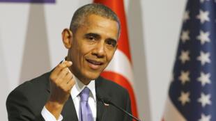 美國總統奧巴馬參加在土耳其安塔利亞舉行世界20國集團峰會