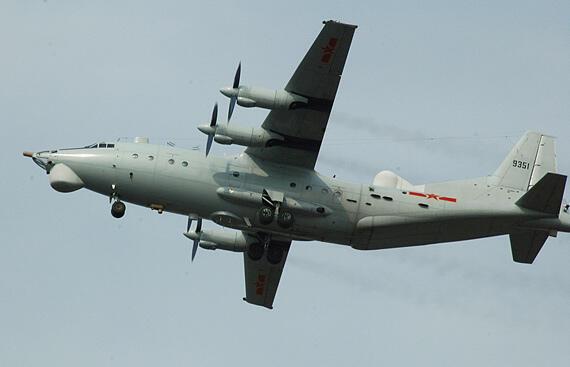 圖為中國繞台飛行的運8電子戰機機型照片
