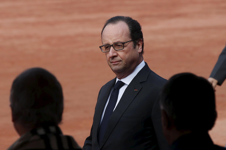 Президент Франции Франсуа Олланд в Нью-Дели, Индия, 25 января 2016.