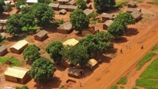 Une vue aérienne de la ville de Bria en République centrafricaine. (Image d'illustration)