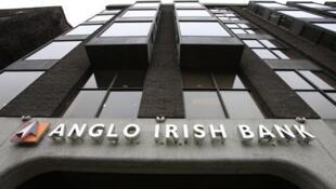 Fachada del Anglo Irish Bank.