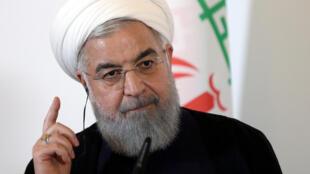 Tổng thống Iran Hassan Rohani phải đối mặt với các cuộc biểu tình trong nước từ vài tuần nay và loạt trừng phạt kinh tế của Mỹ.
