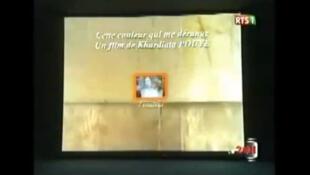 Une copie d'écran du documentaire de Kardiata Pouye, intitulé <i><b>Cette couleur qui me dérange.</i></b>