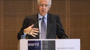 Former EU commissionner Mario Monti