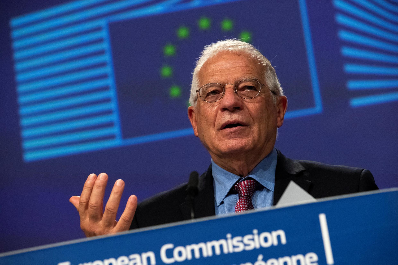 Lãnh đạo ngành ngoại giao châu Âu, Josep Borrell. Ảnh chụp tại Bruxelles, ngày 10/06/2020.