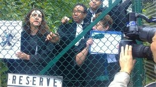 "Lawyers protesting what they call ""justice behind bars"""