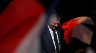 Франсуа Фийон на одном из предвыборных митингов