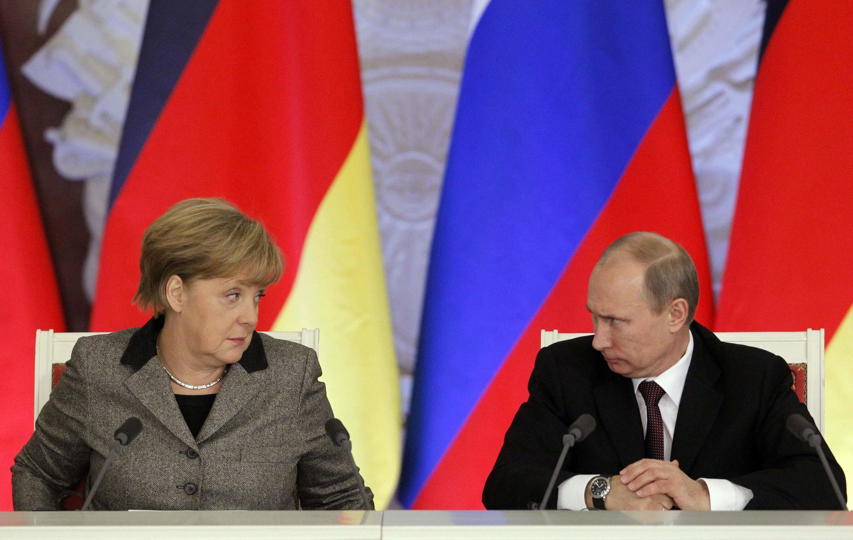 Меркель и Путин в 2012 году