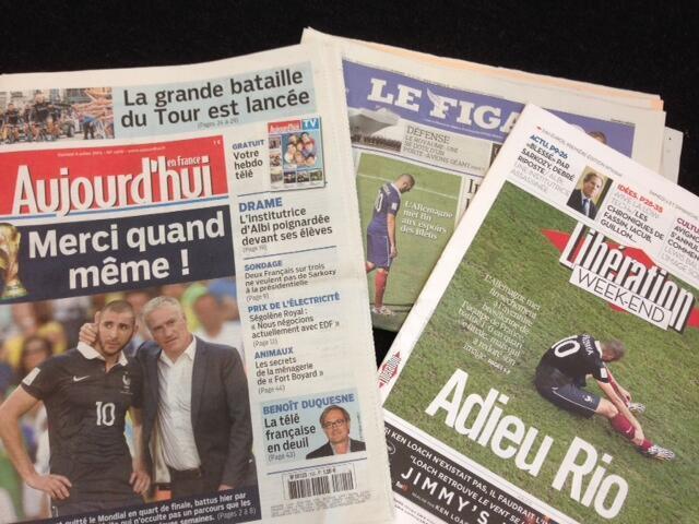 Capas dos jornais franceses deste sábado 05/07/2014.