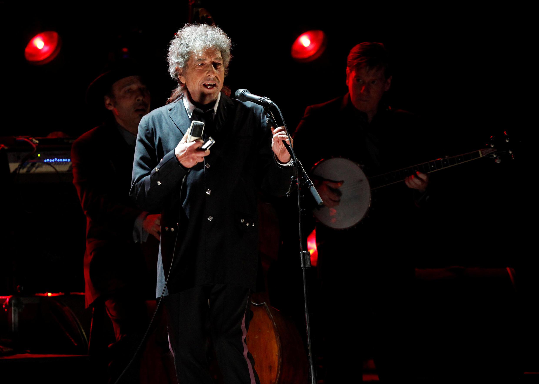 Le chanteur Bob Dylan, prix Nobel de littérature 2016.