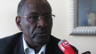 """L'ancienne star du football soudanais, Ali """"Gagarine""""."""