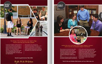Tài liệu quảng cáo của Northern State University thuộc bang South Dakota, Hoa Kỳ