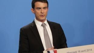 O chefe do governo francês, Manuel Valls.