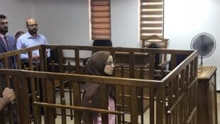 La jihadiste française de 29 ans, lors de son procès à la Cour pénale de Bagdad, le 17 avril 2018.