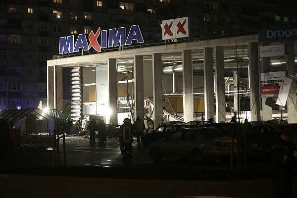 El supermercado Maxima después del derrumbe, el 21 de noviembre de 2013.