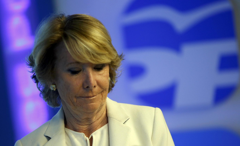 Esperanza  Aguirre, candidata conservadora a la alcaldía de Madrid