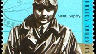 Estampilla con Saint-Exupéry.