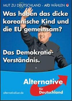 «Ce qu'ont en commun le gros enfant coréen et l'Union européenne ? Leur compréhension de la démocratie».