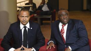 Moïse Katumbi (G) et Jean-Pierre Bemba (D) à Bruxelles, Belgique, en septembre 2028. (Image d'illustration)