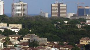 Accra, mji mkuu wa Ghana, ambapo Ibrahim Mahama, ndugu wa rais John MAhama alipoendesha mkutano wa kisiasa.