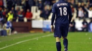Zlatan Ibrahimovic a été exclu, il ne jouera pas le match retour contre Valence, au Parc des Princes.
